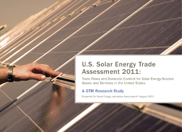 US Solar Industry Was Net Global Exporter by $1.9B in 2010, According to GTM Research and SEIA