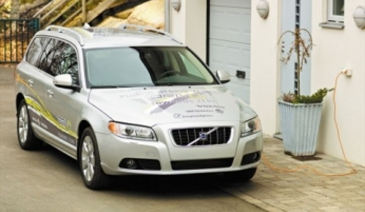 Volvo and Vattenfall in Plug-In Joint Venture