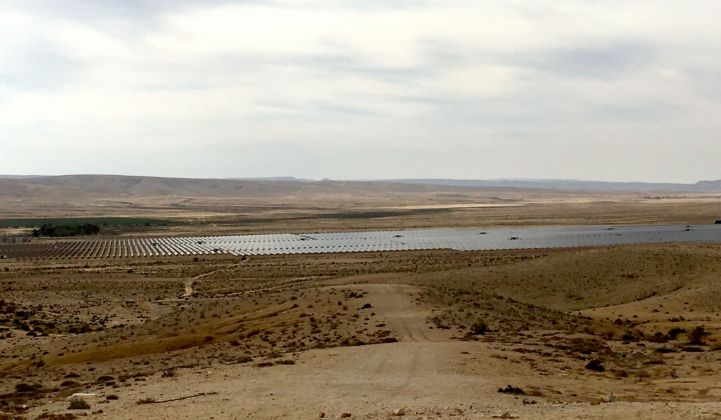 The 30-megawatt photovoltaic plant at the Ashalim site turns Negev desert sun into electricity.