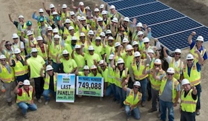 749,088 Solar Panels in Place at California Site