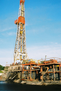 Drill beside Produced Water containment pit