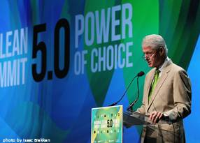 More of President Clinton on Efficiency, Solar, Wind, and Political Realities