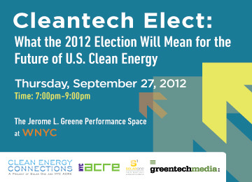 Live Broadcast: What Will the 2012 Election Mean for the Future of US Clean Energy?