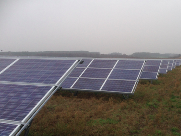 Polish Solar Under Clouds