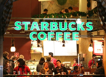 Starbucks Goes Bonkers for LED Lights